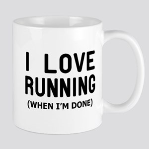 I love Running when Im done Mugs